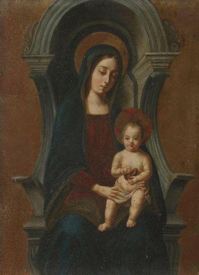 École FRANÇAISE du XIXe siècle Vierge à l'Enfant...