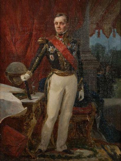 Jules RIGO (1810-1892) Portrait de l'amiral...