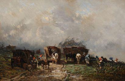 Godefroy de HAGEMANN (c.1820-1877) Les Vendanges...