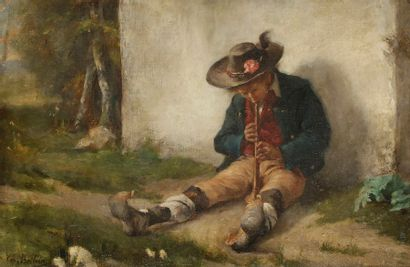 Émile Boilvin (1845-1899) Le fifre Toile....