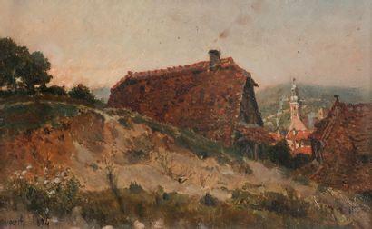 Alfred Brunel de Neuville (1852-1941) Village...
