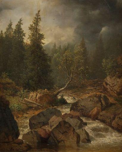 Albert August ZIMMERMANN (1808-1888) Paysage...