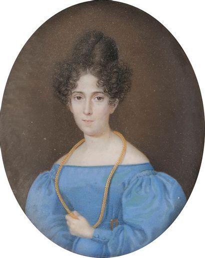 École française vers 1830 Portrait de femme...
