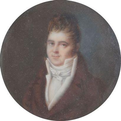 Portrait de jeune homme coiffé en toupet,...