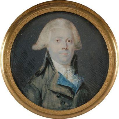 École de Lizinska de Mirbel Portrait d'homme...