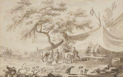 École FRANÇAISE de la fin du XVIIIe siècle...