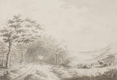 École du NORD du XVIIIe siècle Paysage avec...