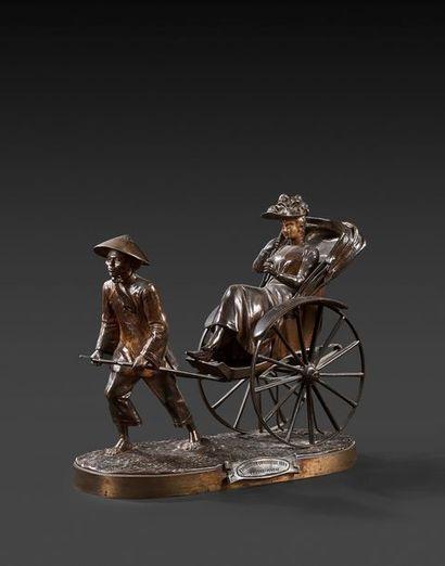 Édouard DROUOT (1859-1945) Le Pousse-pousse,...