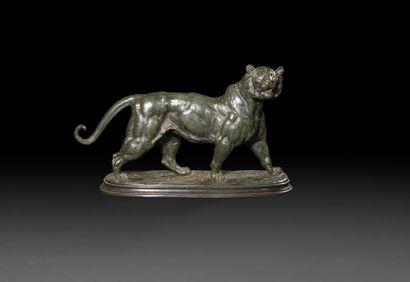 Édouard DELABRIèRE (1829-1910) Lion marchant...