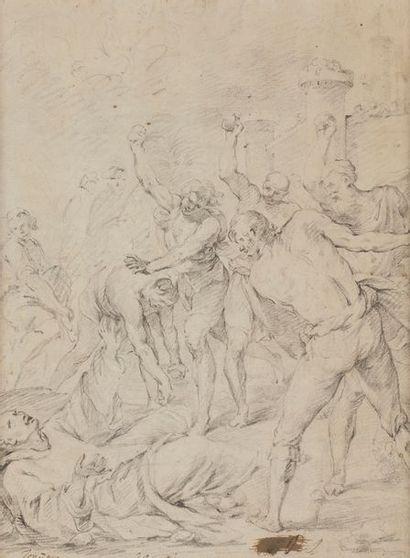 École FRANÇAISE du XVIIe siècle La Lapidation...