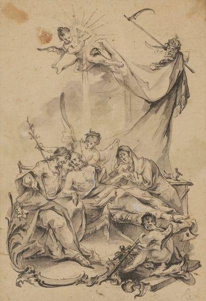 Entourage de Paul TROGER (1698-1762) Jésus...