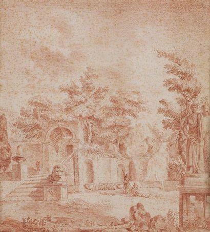 École FRANÇAISE vers 1800, suiveur d'Hubert...
