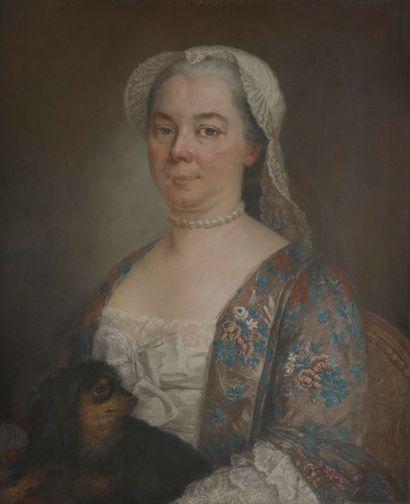 École FRANÇAISE du XVIIIe siècle Femme au...