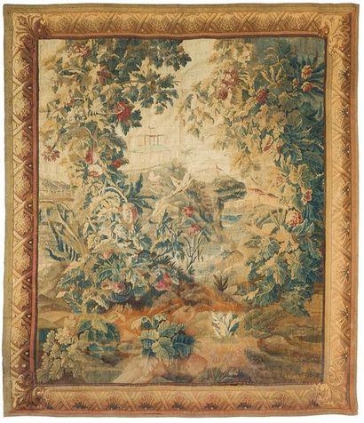 Tapisserie d'Aubusson représentant un paysage...