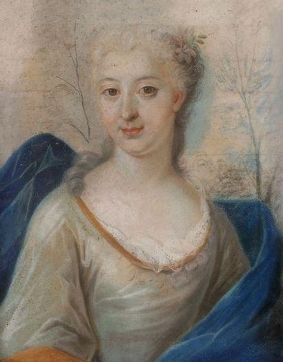 École FRANÇAISE vers 1700 Portrait de femme...