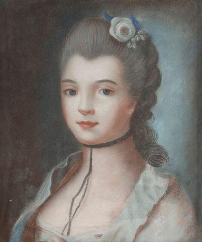 École FRANÇAISE du XIXe siècle Paire de portraits...