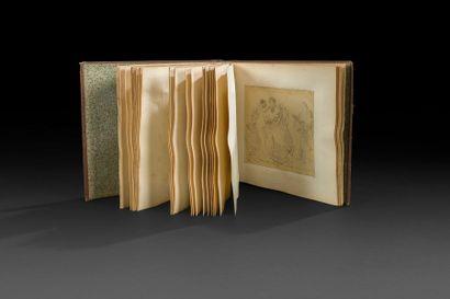 École française du XIXe siècle Album de 54 dessins sur Anacréon, d'après Girodet...