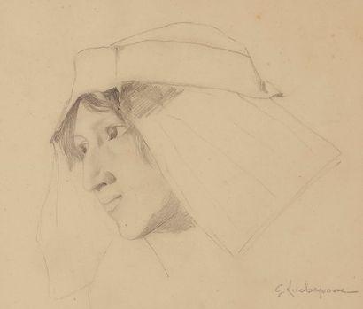Georges-Antoine ROCHEGROSSE (1859-1938) Étude...