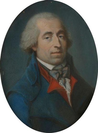 École FRANÇAISE vers 1790 Portrait d'homme...