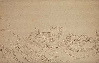 École FRANÇAISE du XIXe siècle Paysages d'architecture...
