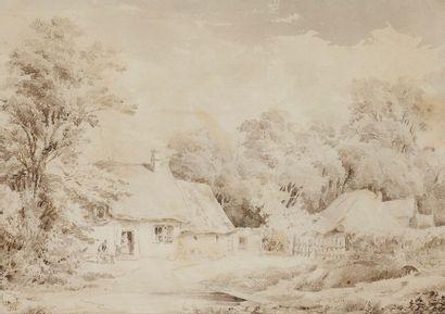 Johann Jakob ULRICH (1798-1877) Scène animée...