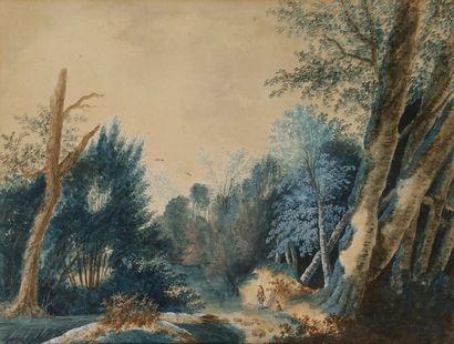 Pierre-Antoine MONGIN (1761-1827) Paysage...