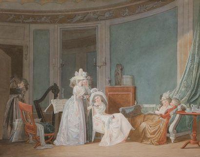 École française du XVIIIe, d'après Jean-Baptiste...