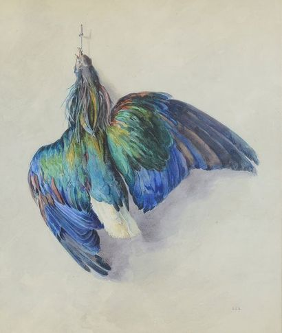 SEILLIERE COSSE-BRISSAC (École française du XXe siècle) Nature morte aux oiseaux...