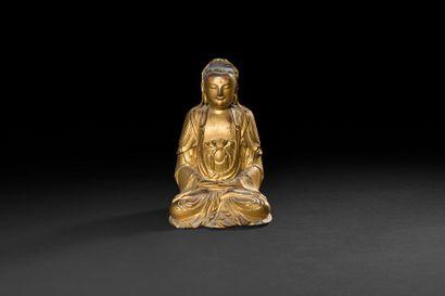 CHINE - XVIIIe siècle Statuette de bouddha...