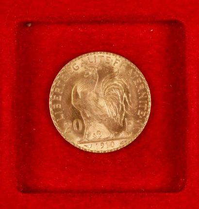 1 pièce de 20 Francs en or. Type Coq; 1910