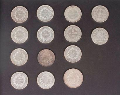 Lot de monnaies en argent, modernes: - 4...