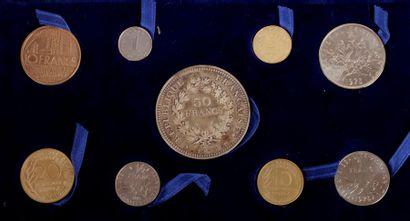 1 boîte de la Monnaie de Paris comprenant...