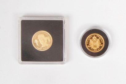 2 pièces en or : - 1 pièce