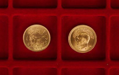 2 Pahlavis en or. Poids 16,2 g