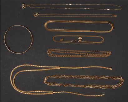 Lot de bijoux en or. Poids brut : 62 g -...