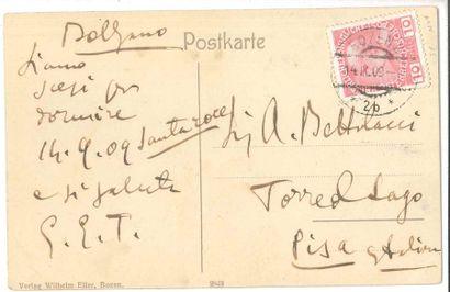 Giacomo PUCCINI (1858-1924). Carte postale...