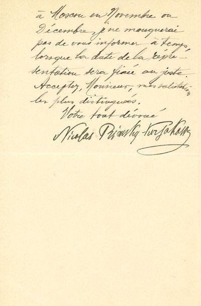 Nicolaï Rimsky-Korsakov (1844-1908). L.S.,...