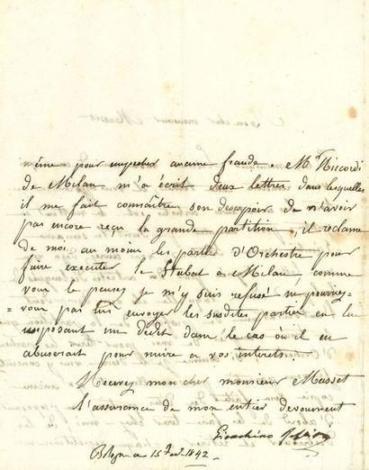 Gioacchino ROSSINI (1792-1868). L.S. (dictée...