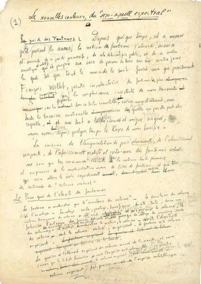 Salvador DALI (1904-1989). Manuscrit autographe signé, Les nouvelles couleurs du...