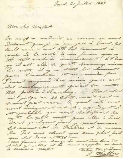Sigismund THALBERG (1812-1871). 5 L.A.S.,...