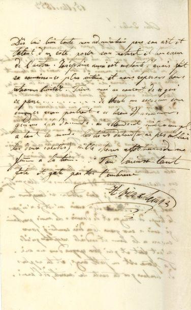Henri VIEUXTEMPS. L.A.S., 15 mars 1853, à...