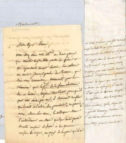 Pierre-Jean de BÉRANGER. 14 L.A.S., 1814-1853;...