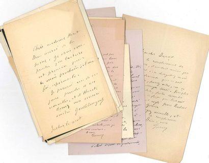Joseph Caraguel (1855-?) écrivain. 90 L.A.S.,...