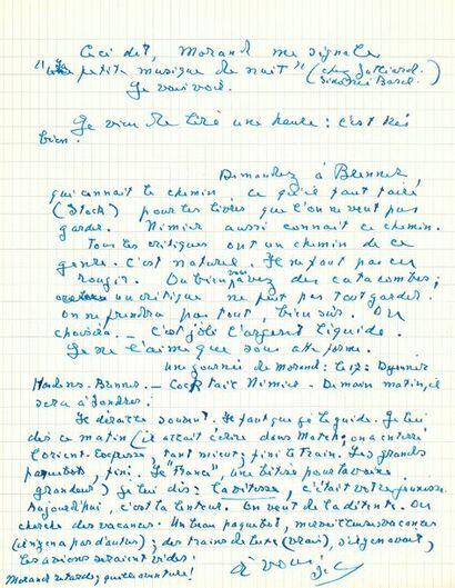 Jacques CHARDONNE (1884-1968). 28 L.A.S.,...