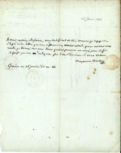 Benjamin CONSTANT (1767-1830). L.A.S., Genève...