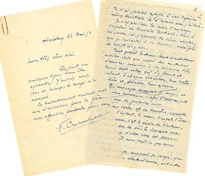 Fernand CROMMELYNCK (1885-1970). Manuscrit...