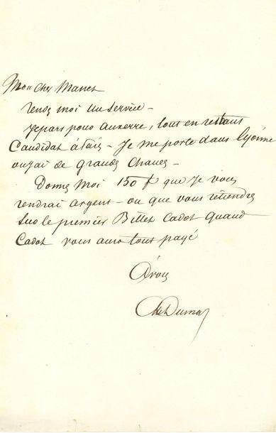 Alexandre DUMAS père (1802-1870). 4 L.A.S.,...