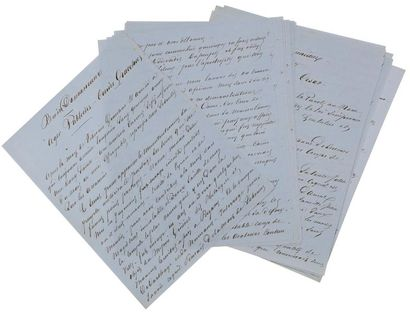 Alexandre DUMAS père (1802-1870). 2 manuscrits...