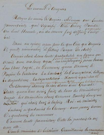 Alexandre DUMAS père. Manuscrit autographe...