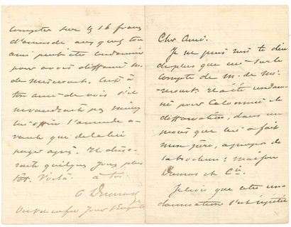 Alexandre DUMAS fils (1824-1895). 2 L.A.S.,...